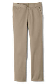 Girls Plus Perfect Fit Iron Knee Blend Plain Front Chino Pants