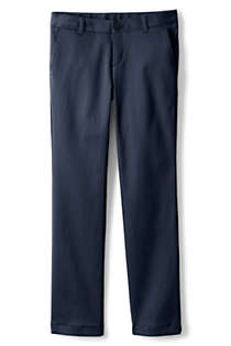 School Uniform Girls Plain Front Stretch Chino Pants, Front