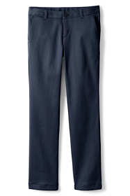 Girls Plain Front Stretch Chino Pants