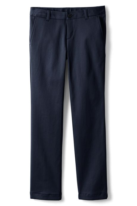 Little Girls Plain Front Stretch Chino Pants