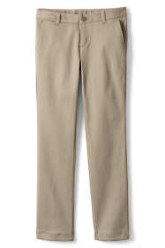 School Uniform Girls Plain Front Stretch Chino Pants