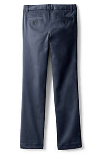 School Uniform Girls Plain Front Stretch Chino Pants, Back