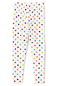 Girls' Patterned Ankle-length Jersey Leggings