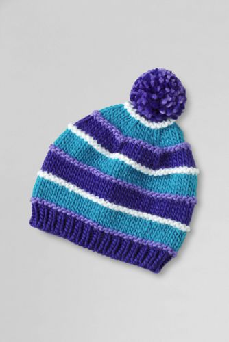 Girls' Chunky Stripe Hat