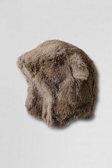Girls' Faux Fur Bear Hat