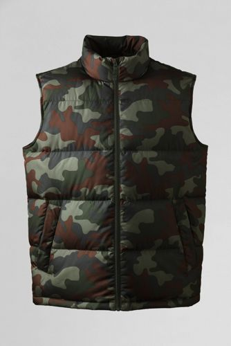 Men's Regular Camouflage Down Gilet