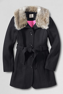 Girls' Fashion Wool Blend Coat