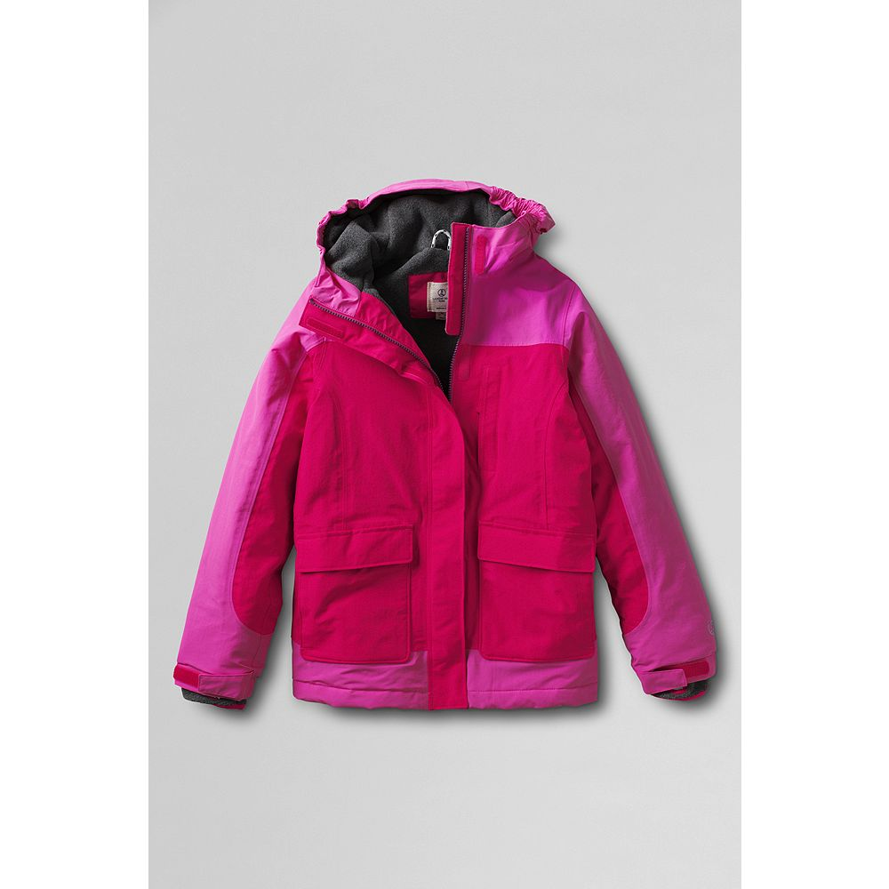 Lands' End Girls' Plus Waterproof Squall Parka