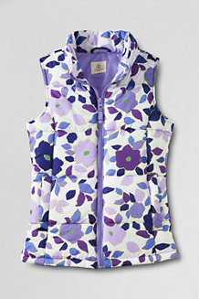 Girls' Patterned Insulated Gilet
