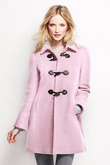 Women's Basketweave Wool Blend Toggle Coat