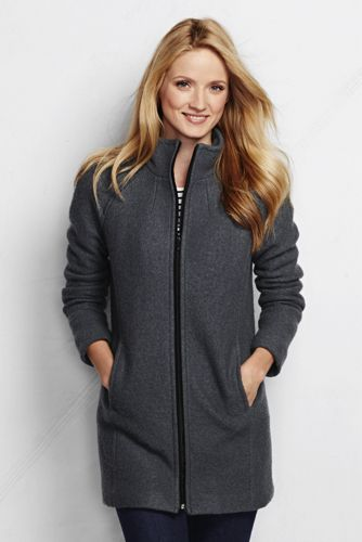 Women's Boiled Wool Parka from Lands' End