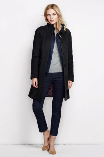 Women's Regular Luxe Wool Blend Car Coat