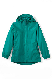 Girls' Plain Packable Navigator Rain Jacket