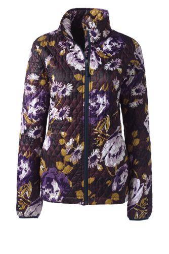 Gemusterte PrimaLoft-Jacke für Damen