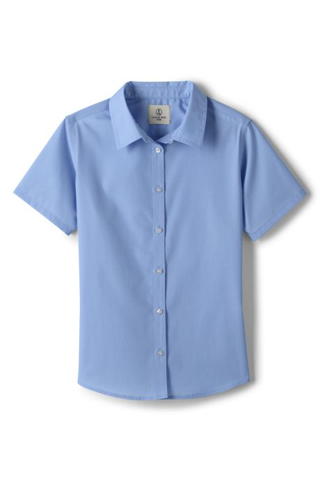 Girls Short Sleeve Broadcloth Shirt
