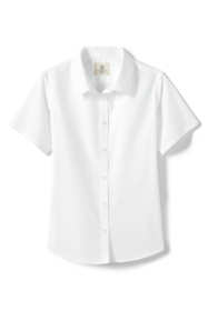 School Uniform Little Girls Short Sleeve Broadcloth Shirt