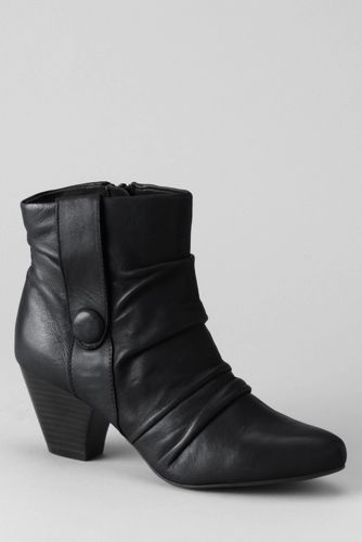Women's Lotus Graphite Ruched Ankle Boots