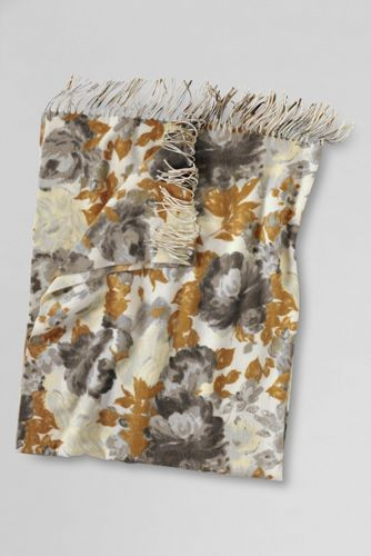 Cashtouch Floral Patterned Throw