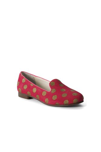 Lands' End Girls' Viva Venetian Slipper Shoes - 11, Pink thumbnail