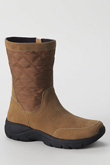 Women's Quilted Side-zip Boots