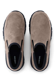 Women's All Weather Suede Leather Slip On Moc Shoes, Unknown