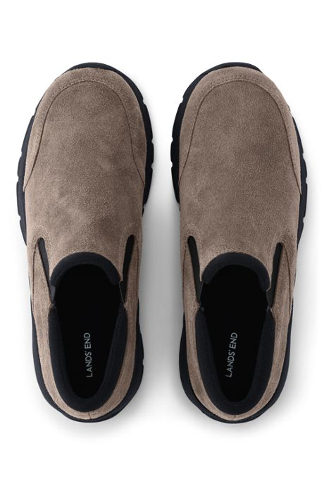 Women's All Weather Suede Leather Slip On Moc Shoes