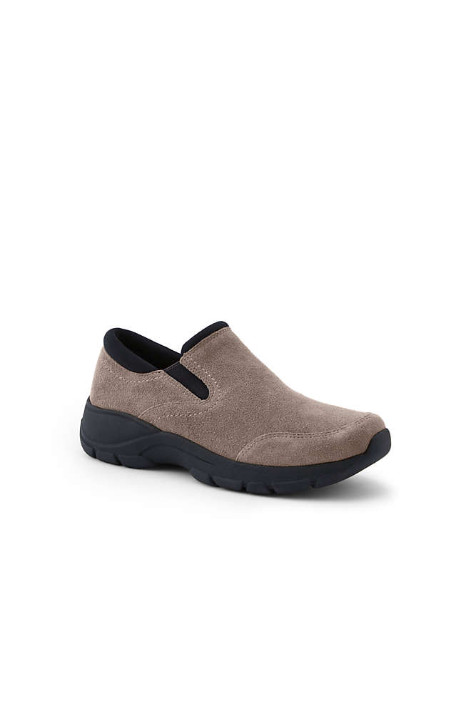 Women's All Weather Suede Leather Slip On Moc Shoes, Front