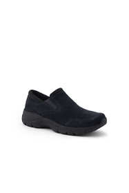 School Uniform Women's All Weather Suede Leather Slip On Moc Shoes