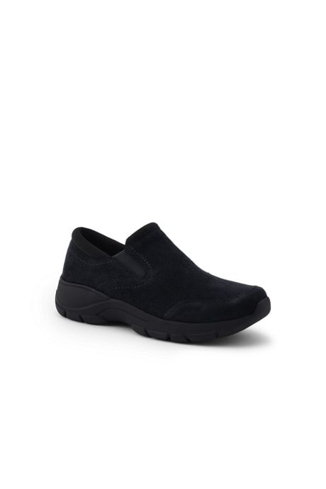 School Uniform Women's Wide All Weather Suede Moc Shoes