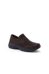 Women's Wide All Weather Suede Moc Shoes