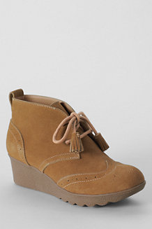 Women's Wedged Suede Ankle Boots