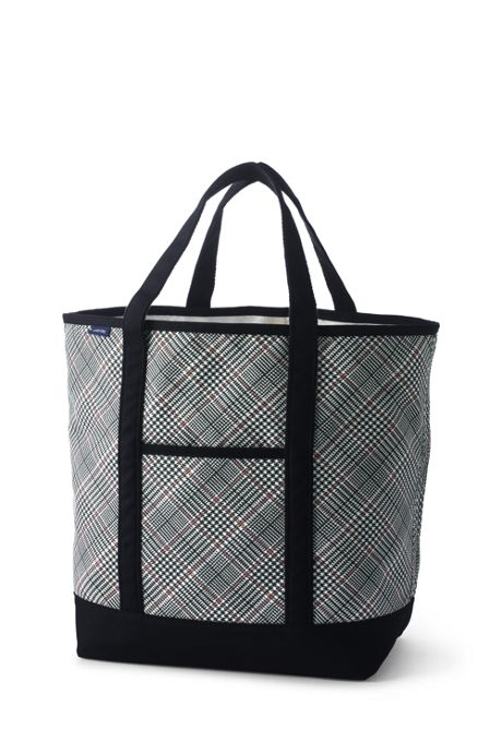 Print Open Top Canvas Tote Bag