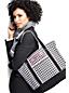 Offene Canvas-Tasche mit Printmuster für Damen