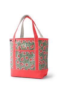 6af47f6c50fb Open or Zip Top Print Canvas Tote Bag