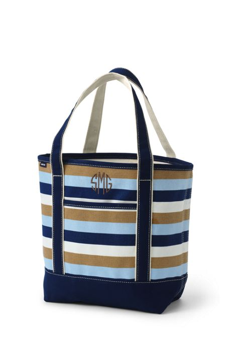 Medium Print Open Top Canvas Tote Bag