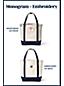 Medium Open Top Canvas Tote Bag