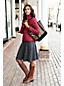 Mittelgroße offene Canvas-Tasche mit Printmuster für Damen