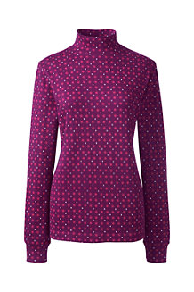 Women's Relaxed Patterned Polo Neck