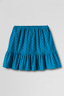 Girls' Elastic Waist Cord Tiered Skirt
