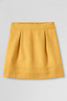 Girls' Plain Woven A-line Skirt
