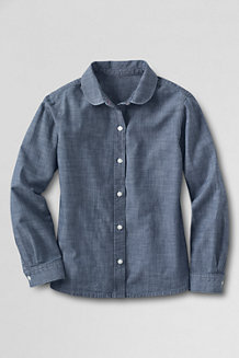 Girls' Peter Pan Collar Chambray Shirt