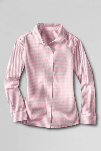 Little Girls' Peter Pan Collar Oxford Shirt