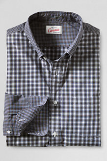 Men's Pattern Blocked Poplin Shirt