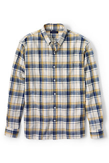 Men's Plaid Chambray Shirt