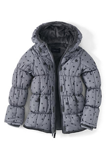 Girls' Patterned Insulated Puffer Jacket