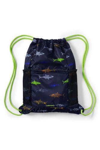 Boys Camo Print Drawstring Gym Bag