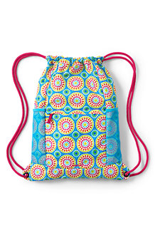 Girls' Patterned Drawstring Gym Bag