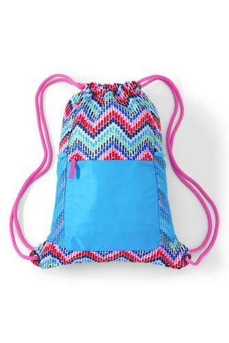 Girls' Patterned Drawstring Gym Bag | Lands' End