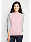Women's Regular Colourblock Three-quarter Sleeve Crew Neck Jumper