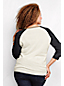 Women's Plus Colourblock Three-quarter Sleeve Crew Neck Jumper